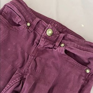 Guess Purple Stretchy Jeans